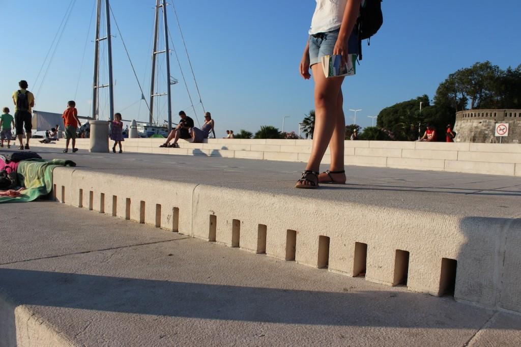 L'orgue maritime de Zadar, par où entre le vent