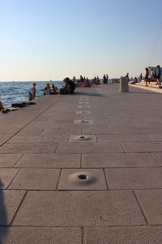 L'orgue maritime de Zadar : le son sort par les dalles